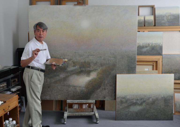 Masao Hajima, au Salon de la ville de Vincennes, par l'Amicale des Artistes Français